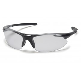 Pyramex  Avante  Silver Black Frame/Clear Lens  Safety Glasses  12/BX