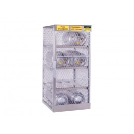 Justrite Cylinder Locker for Safe Storage of 8 Horizontal 20 or 33 lb. LPG Cylinders