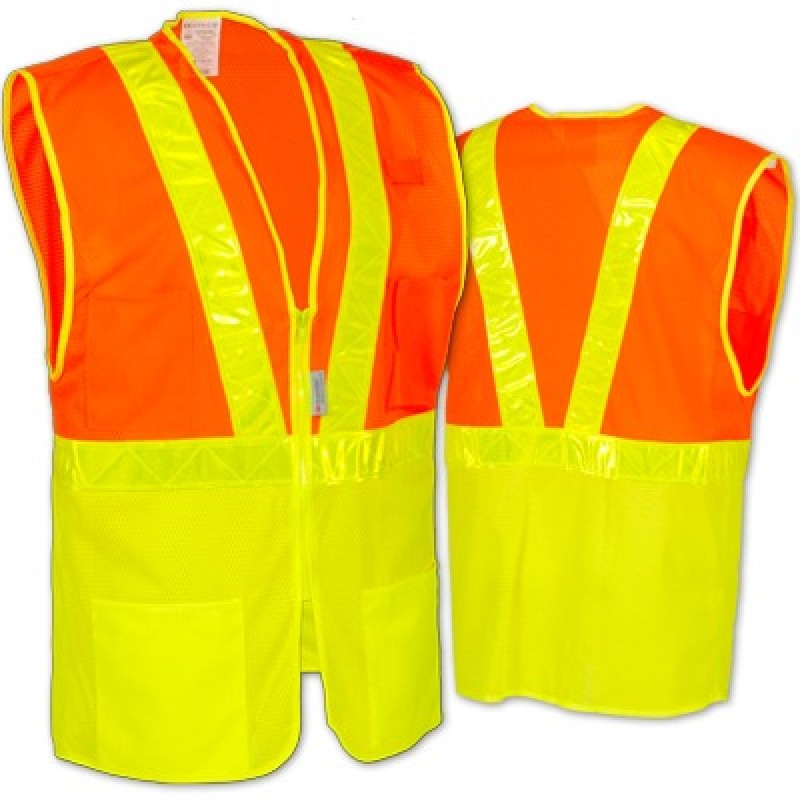 OccuLux Two-Tone Mesh Safety Vest with Gloss Tape
