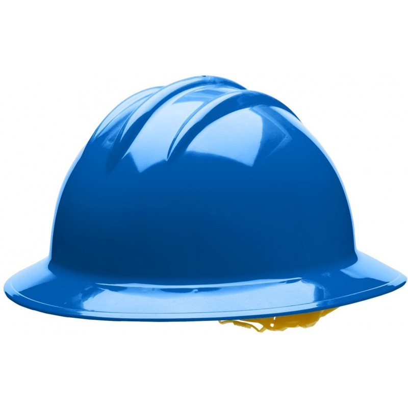 Bullard C34 34PBR 6pt Ratchet Classic Extra Large Full Brim Style Pacific Blue Hard Hat 20/Case