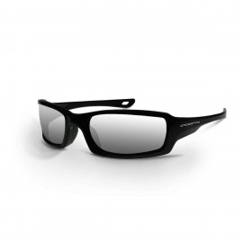 Radians M6A Silver Mirror Black Safety Glasses 12 PR/Box