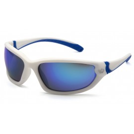 Venture Gear Ocoee White Frame/Ice Blue Mirror AntiFog Lens IN POLYBAG Safety Glasses 1 / EA