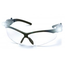 Pyramex Safety - PMXTREME Readers - Black/ Clear Anti-Fog +2.5 Lens with LED Temples Polycarbonate Safety Glasses - 6 / BX