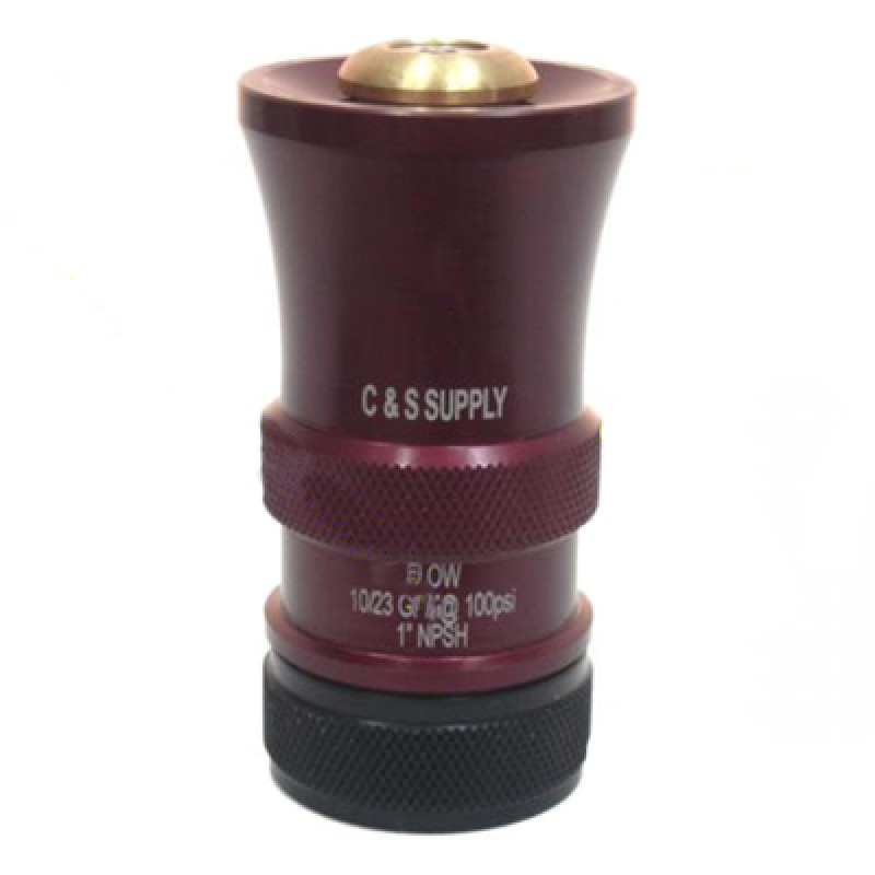C & S Supply 1in Dual Range Nozzle 10 GPM TO 23 GPM BL