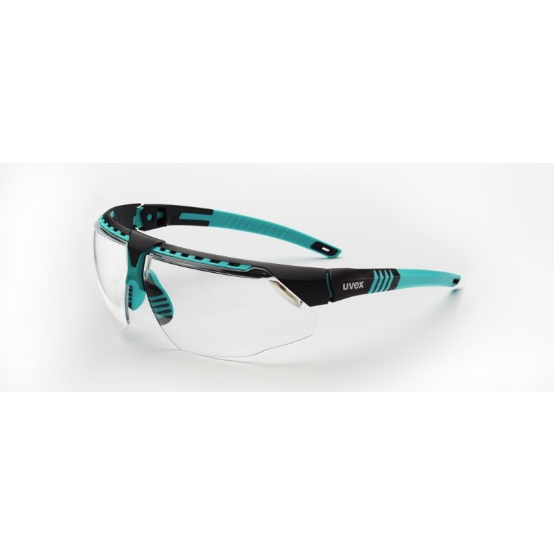 Honeywell S2880 Uvex Avatar Teal/Black Frame Clear Lens Anti-Scratch Hard Coat 10/Box