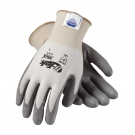 G-Tek 3GX Seamless Knit Dyneema Diamond / Lycra / Spandex Glove with Polyurethane Coated Smooth Grip on Palm & Fingers