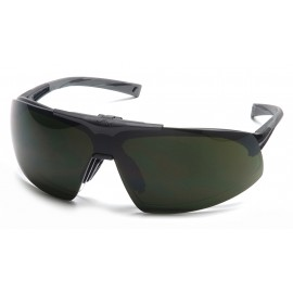 Pyramex  Onix Plus  Black Frame/Clear AntiFog Bottom Lens/ 5.0 IR Filter Flip Lens  Safety Glasses  12/BX