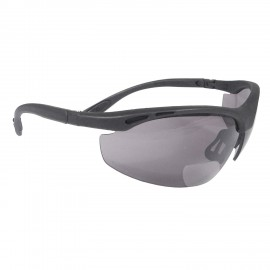 Radians Cheaters - Smoke 2.0 bi-focal Safety Glasses Half Frame Style Black Color - 12 Pairs / Box