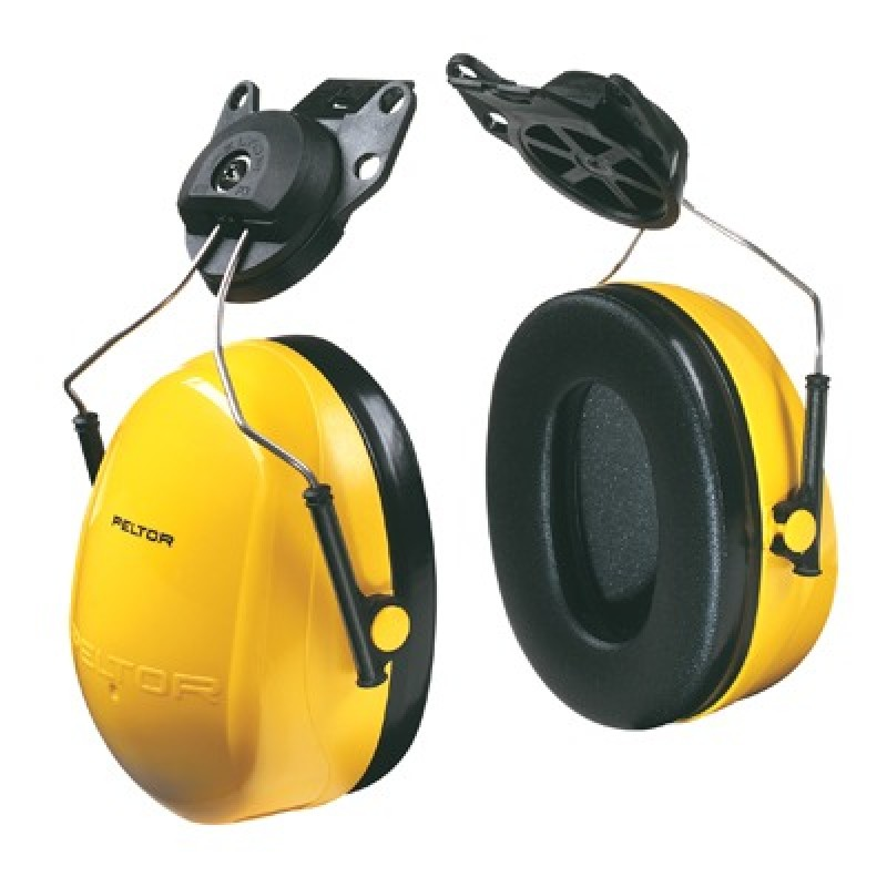 Peltor Optime 98 Earmuffs - Hard Hat Mount