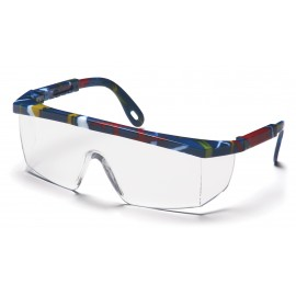 Pyramex  Integra  Mixed Blue Frame/Clear Lens  Safety Glasses  12/BX