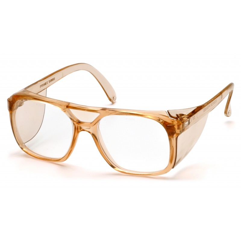 Pyramex Safety - Monitor - Caramel Frame/Clear Lens Polycarbonate Safety Glasses - 12 / BX