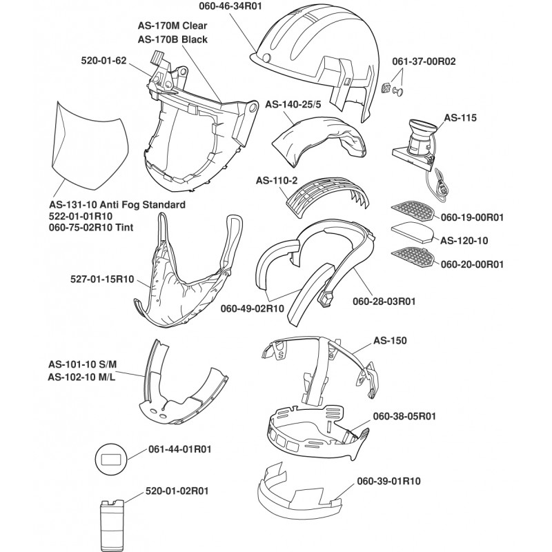 3M™ Airstream™ Mining Headgear-Mounted Powered Air Purifying Respirator (PAPR) System AS-600LBC, Intrinsically Safe