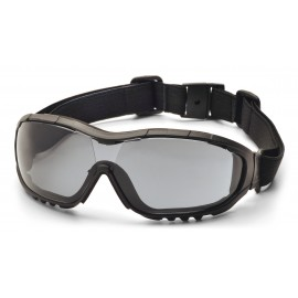 Pyramex  V3G  Black Strap/Temples/Gray Anti Fog Lens Polycarbonate Safety Glasses  12 / BX