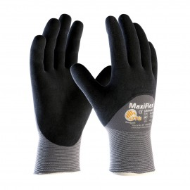 PIP 34-8753/L ATG Seamless Knit Engineered Yarn Glove with Premium Nitrile Coated MicroFoam Grip on Palm, Fingers & Knuckles Large 6 DZ