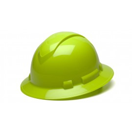 Pyramex HP54131 Ridgeline Full Brim Hard Hat One Size   Lime Color - 12 / CS