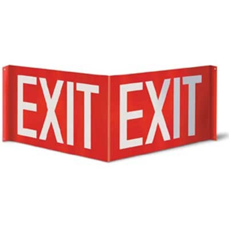 Brooks 3-D Exit Sign