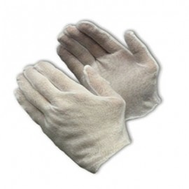 PIP CleanTeam® 97-500 Premium, Light Weight Cotton Lisle Inspection Glove with Unhemmed Cuff - Men's  1/DZ