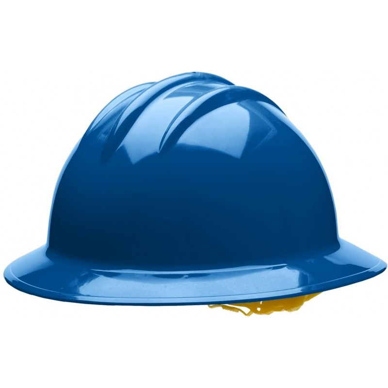 Bullard C35 35KBP 6pt. Pinlock Classic Extra Large Full Brim w/Accessory Slots Kentucky Blue Hard Hat 20/Case