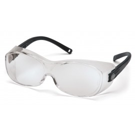 Pyramex  OTS  Black Frame/Clear Lens  Safety Glasses  12/BX