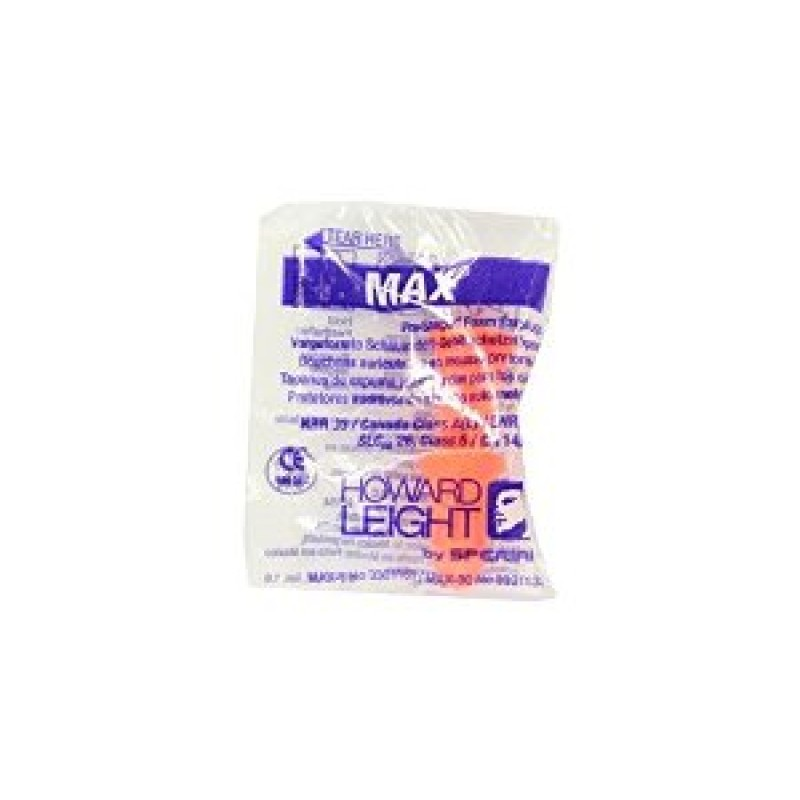 Howard Leight Max Earplugs - Uncorded (Box of 200)