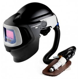 3M™ Speedglas™ Fresh-Air III Supplied Air System with V-100 Vortex Air-Cooling Valve and 3M™ Speedglas™ Welding Helmet 9100MP, 27-5702-10SW, with Hard Hat, SideWindows and Auto-Darkening Filter 9100V, Shades 5, 8-13