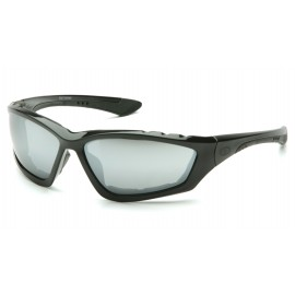 Pyramex  Accurist  Black Padded Frame/Silver Mirror Lens  Safety Glasses  12/BX
