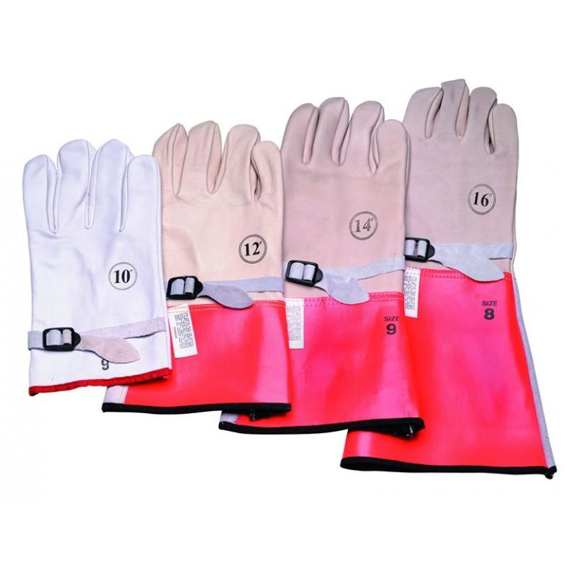 """14"""" High Voltage Leather Protector Gloves"""
