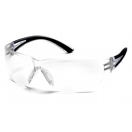 Pyramex  Cortez  Black Temples/Clear Lens  Safety Glasses  12/BX