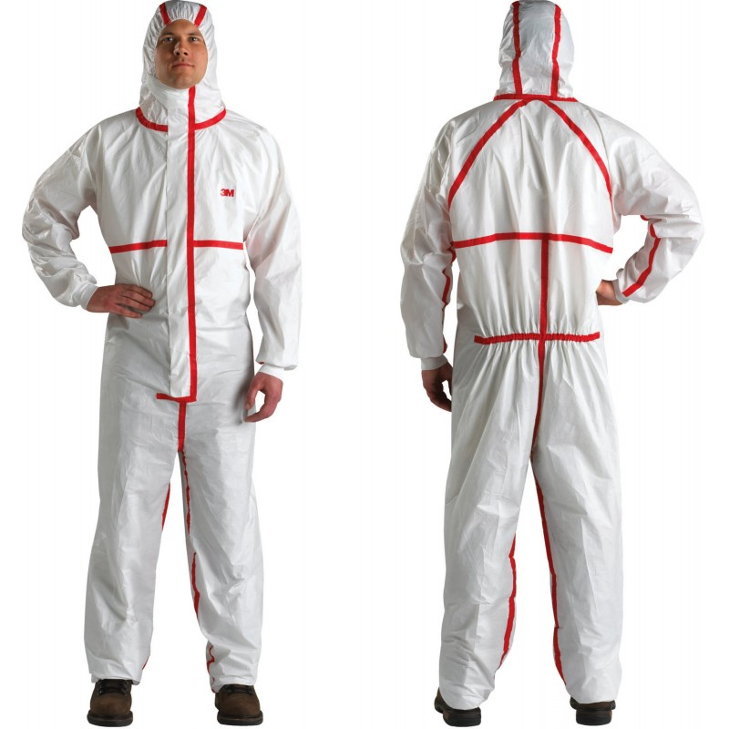 3M Disposable Chemical Protective Coverall Safety Work Wear 4565-BLK-M 25 EA/Case