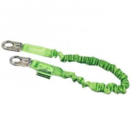 Miller Manyard II Stretchable Shock-Absorbing Safety Lanyard with Snap Hook