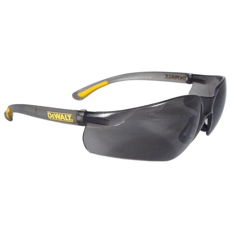 DEWALT Contractor Pro - Smoke Lens Safety Glasses Frameless Style Smoke Color - 12 Pairs / Box