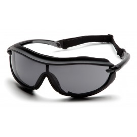 Pyramex Safety - XS3 Plus - Black Frame/Gray Anti-Fog Lens Polycarbonate Safety Glasses - 12 / BX
