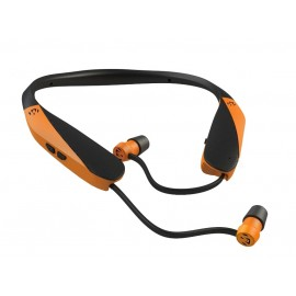 Walker's Hearing GWP-SF-NHE-BLZ Razor X Neck Hearing Enhancement  Retractable Ear Buds Blaze Orange
