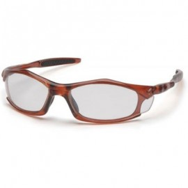 Pyramex Solara Safety Glass  Clear Lens with Orange Frame (12 PR)