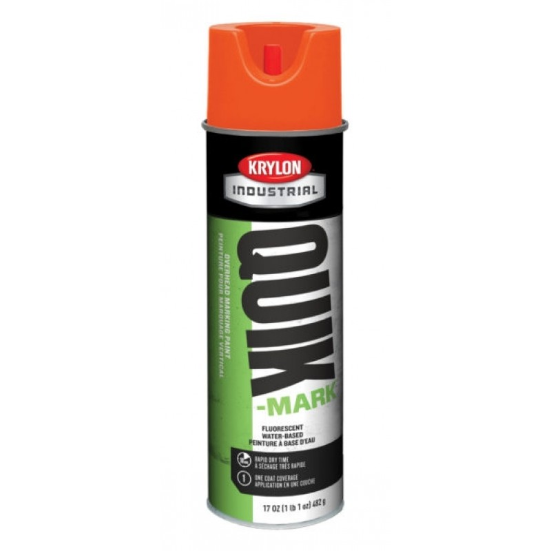 Krylon QUIK-MARK™ Overhead Marking Paint  12 Cans Fluorescent Orange