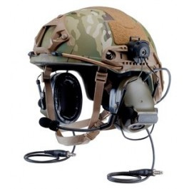 3M PELTOR ComTac III Advanced Combat Helmet (ACH) MT17H682P3AD-47 FG - Accessory Rail Connector - Single Comm