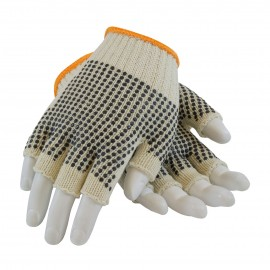 Seamless Knit with Double-Sided PVC Dot Grip Glove - Half-Finger