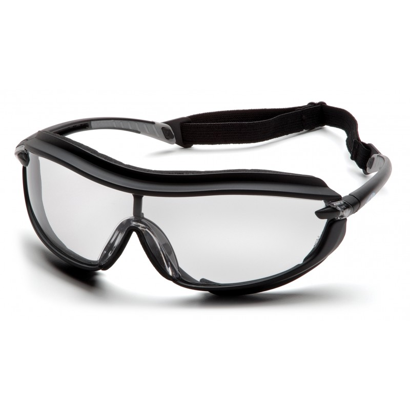 Pyramex Safety - XS3 Plus - Black Frame/Clear Anti-Fog Lens Polycarbonate Safety Glasses - 12 / BX