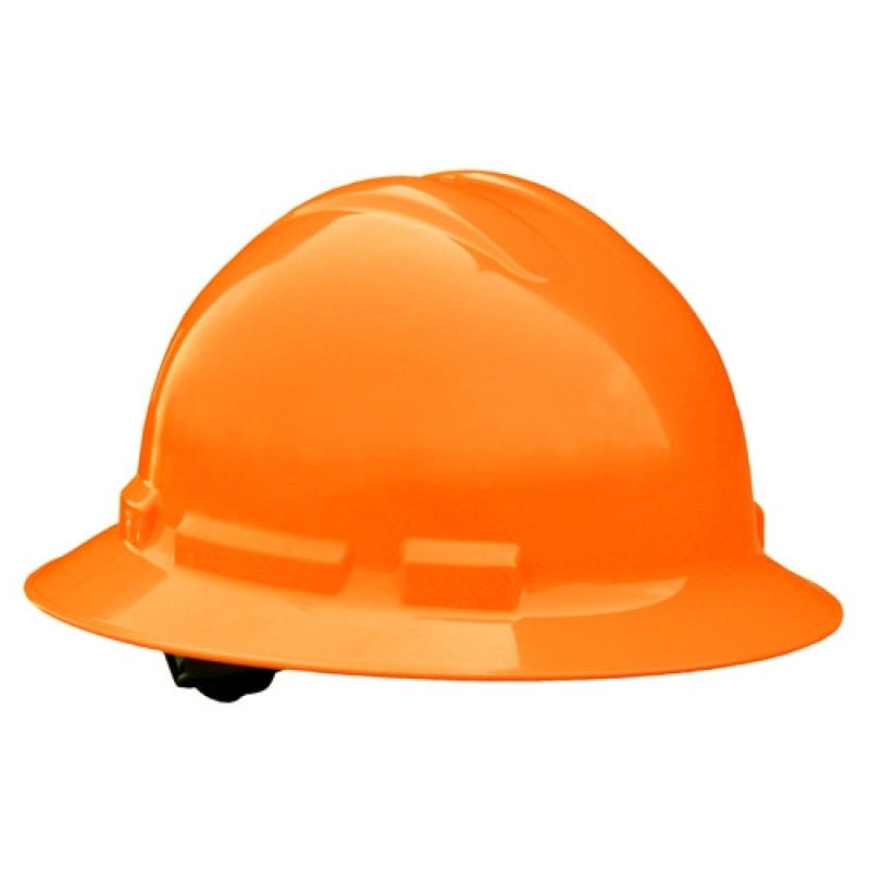 Radians Quartz 6 Point Ratchet Suspension Full Brim Hard Hats Orange HI VIZ Color  (1 Each)