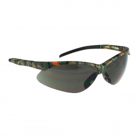 Radians Rad-Apocalypse - Smoke Anti-Fog Lens - Camo Frame Safety Glasses Half Frame Style Camo Color - 12 Pairs / Box