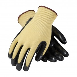 PIP 09-K1400/M G-Tek Seamless Knit Kevlar® Glove with Nitrile Coated Smooth Grip on Palm & Fingers Medium Weight Medium 6 DZ