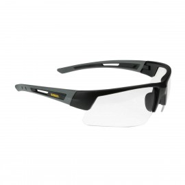 Radians DEWALT Crosscut - Clear Lens Safety Glasses Half Frame Style Black Color - 12 Pairs / Box