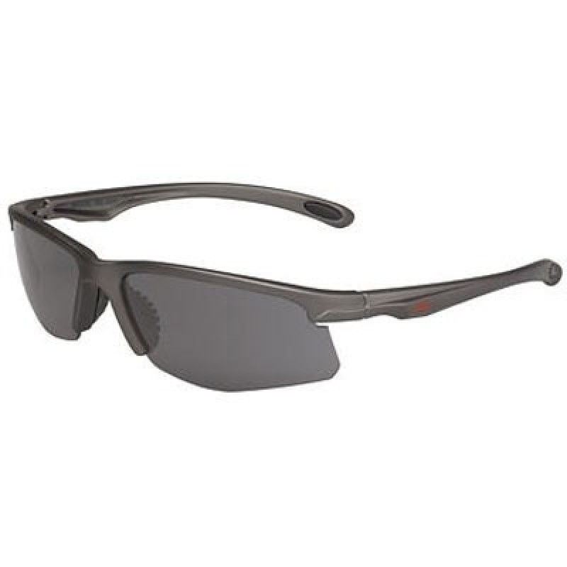 OCC702 Safety Glasses with Metalik Gun Metal Gray Temples and Gray Anti-Fog Lens
