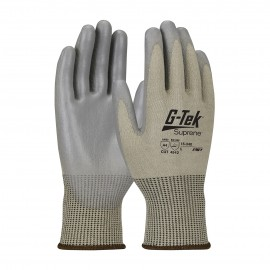 PIP 15-340/XL G-Tek Seamless Knit Suprene Blended Glove with Polyurethane Coated Smooth Grip on Palm & Fingers XL 6 DZ