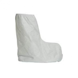 DuPont™ Tyvek Boot Covers, White, Serged Seams, Universal Fit (1 Pair)