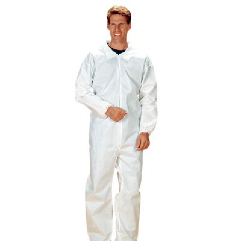 Lakeland 8417 SafeGard Coverall with Elastic Wrists and Ankles White Color 25/Case