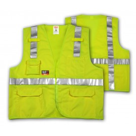 Tingley V81832.4X-5X Class 2 FR Vest Fluorescent Yellow-Green